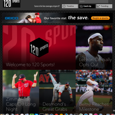 120 Sports Site Launch